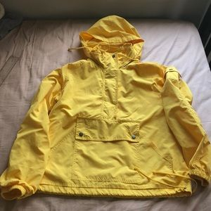 Jackets & Blazers - Classic, versatile yellow hooded rain jacket - S